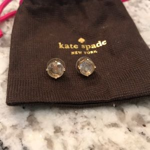 Kate spade clear & gold studs